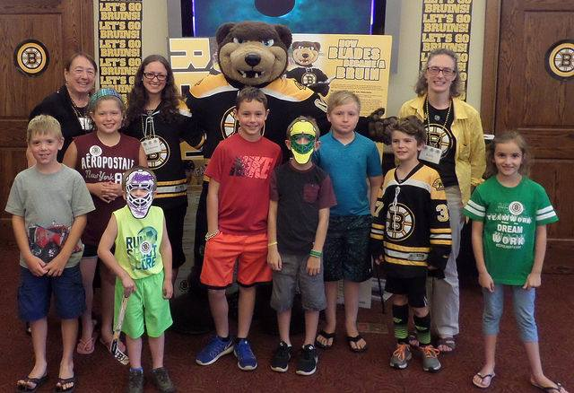 Blades the Bruins mascot visited our library to celebrate our Summer Reading Program in 2016